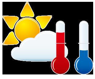 天気・気温・潮位のイメージ