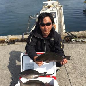 都城市から釣行の川平さん